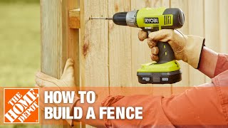How to Build a Fence Part 2 | The Home Depot