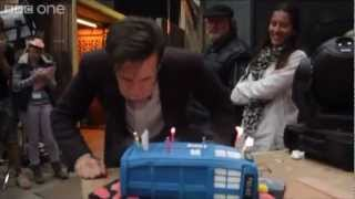 http://www.bbc.co.uk/doctorwho Doctor Who's cast and crew secretly assembled to give Matt Smith a big birthday surprise!