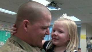 A soldier returns from deployment and surprises his six-year-old daughter on her birthday. CNN Affiliate KSL reports.