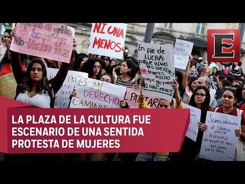 Mujeres se manifiestan contra la violencia de género y el machismo en Costa Rica