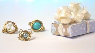 DIY: Bird's Nest Wire Jewelery Ring & Necklace | Gift Ideas - YouTube