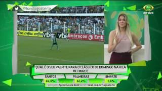 A turma de comentaristas do Jogo Aberto arriscou o placar do clássico deste domingo (19) entre Santos e Palmeiras na Vila...