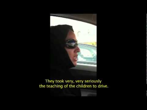 Manal Al Sharif driving in Saudi Arabia (English subtitles)