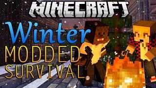 """Minecraft Winter Mod Lets Play """"Winter War Mod"""" #1 w/ BajanCanadian&JeromeASF"""