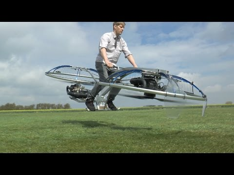 Crazy British Inventor Builds Flying Hoverbike