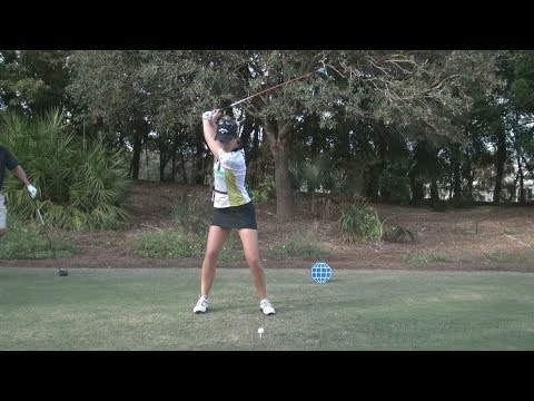 SANDRA GAL – PERFECT FACE ON DRIVER GOLF SWING 2013 – REG & SLOW MOTION – 1080p HD