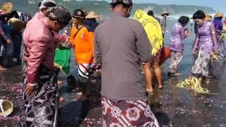 Video Seusai sesajen diletakkan dilaut, terjadi ombak besar di upacara pisungsung jaladri Parangkusumo MP3, 3GP, MP4, WEBM, AVI, FLV Desember 2018