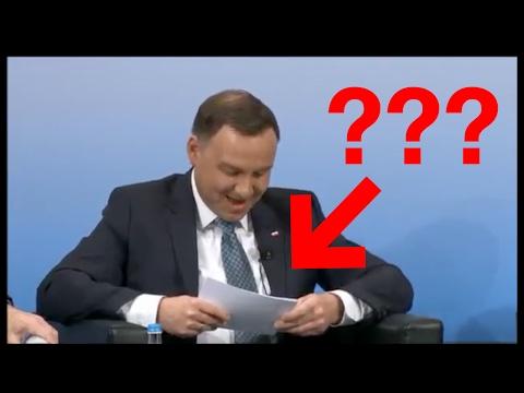 OBCIACH ROKU! Andrzej Duda 'czyta' z kartki po angielsku.