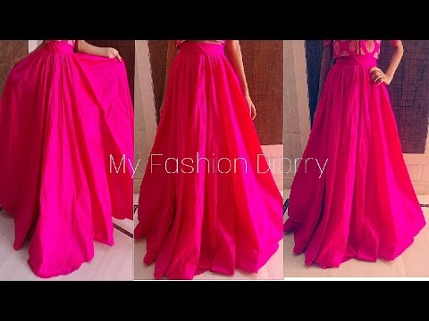 Video Full pleated umbrella skirt/ lahnga for crop tops |DIY| download in MP3, 3GP, MP4, WEBM, AVI, FLV January 2017