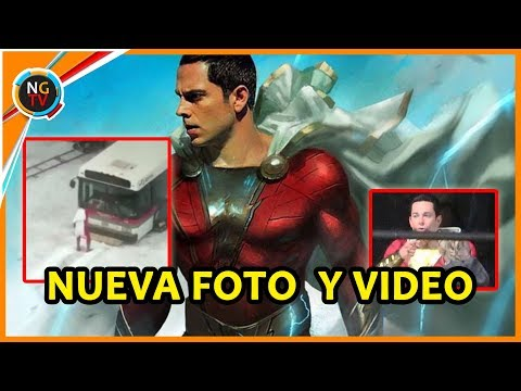 SHAZAM nueva foto y video del set