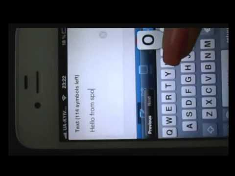 Video of Spoofy (spoof friends via SMS)
