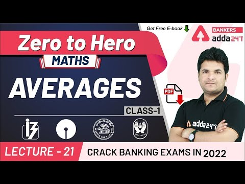 Average Problems Tricks and Shortcuts (Class-1) | Maths | Adda247 Banking Classes | Lec-21