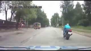 Погоня ГИБДД за мотоциклистом