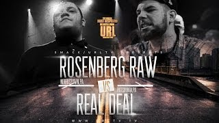 Ultimate Rap League | Real Deal vs. Rosenberg Raw