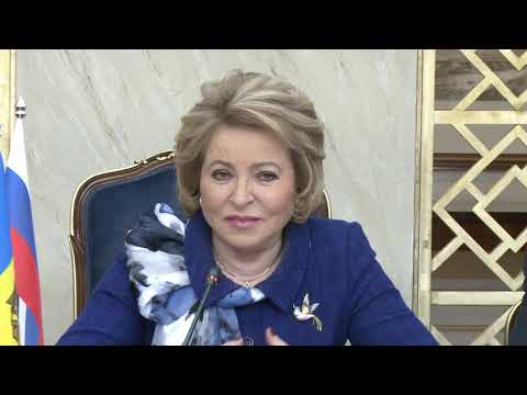 The Head of State of Moldova met with Valentina Matvienko