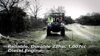 3. Cushman 1600XD-R diesel powered utility vehicle