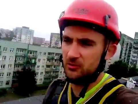 Сладость жизни  промышленного альпиниста в Польше