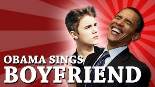 Barack Obama Singing Boyfriend by Justin Bieber - YouTube