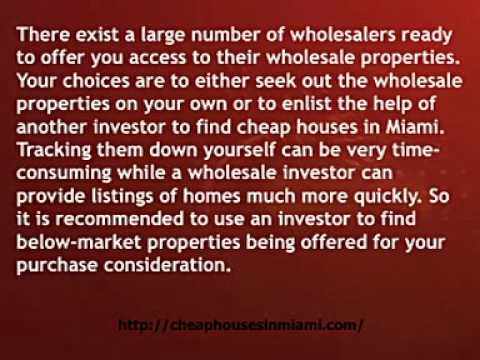buy cheap houses in Miami