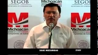 Osorio Chong: Inseguridad en Michoacán no está resuelta, pero va por buen camino