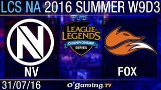 Echo Fox vs EnVy - LCS NA Summer Split 2016 - W9D3