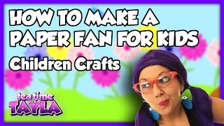 Crafts for Kids, How to Make a Paper Fan