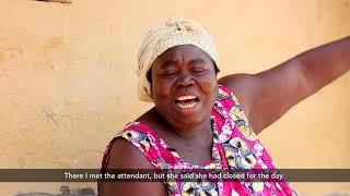 Mrs. Ajele, an aged woman shares her appreciation to GAMA-SWP