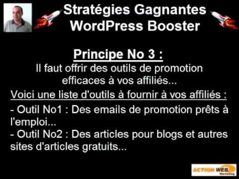 Stratégie marketing Internet avec l'affiliation et WordPress