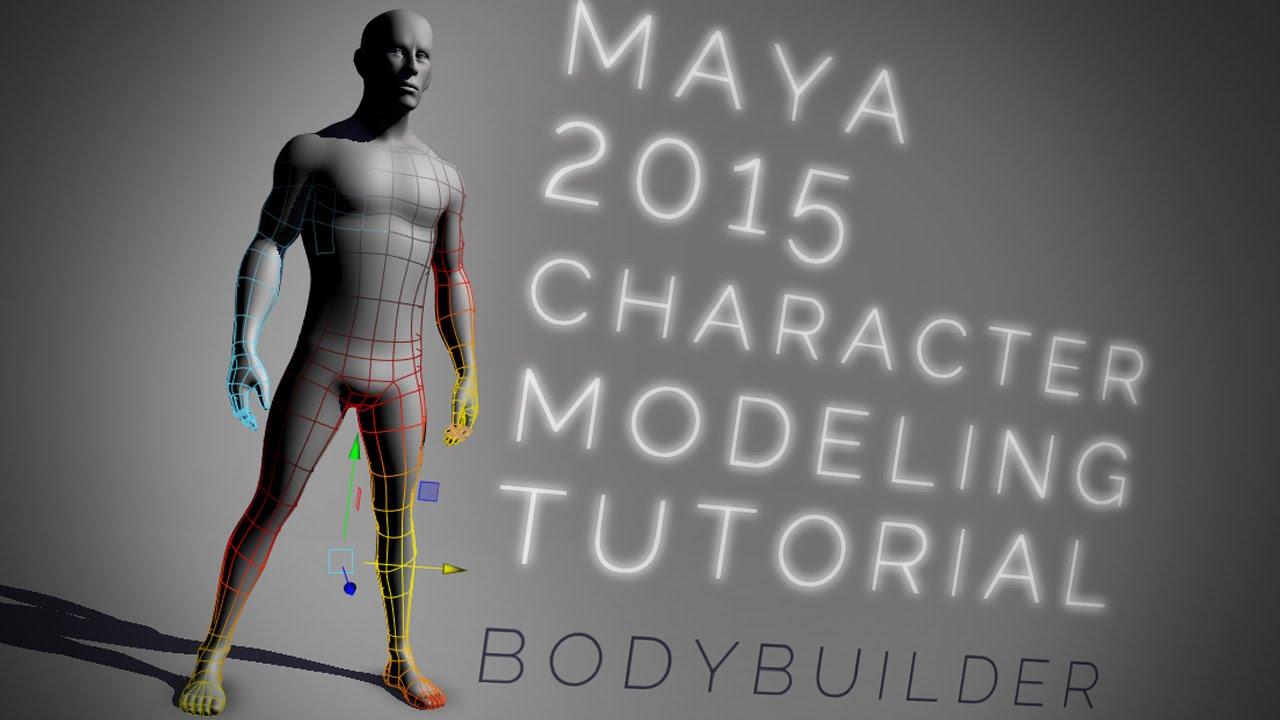 Bodybuilder character modelling - Maya Tutorial