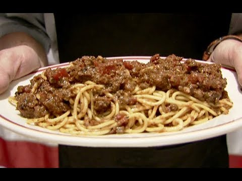 Alton's Spaghetti and Meat Sauce | Food Network