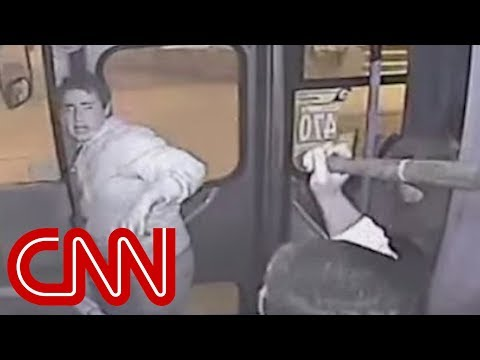 Bus - Bus driver bags purse-snatcher with a bat. CNN's Jeanne Moos reports on instant karma caught on camera.