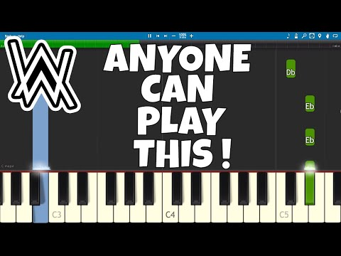 How To Play Faded Intro - EASY Piano Tutorial - Alan Walker