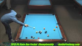 Adam Smith Vs George Bero 2013 PA State One Pocket Championships