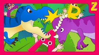 Make a monster ABC with the head butting dinosaur 'Pachycephalosaurus' (+ more dino song collection)