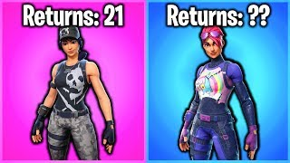 TOP 10 MOST COMMON SHOP SKINS IN FORTNITE