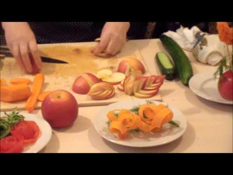 Мастер класс по нарезки фруктов на стол