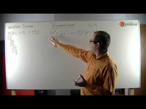 Polynomdivision ohne Rest - Nullstellen einer Glei