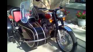 8. 2009 Royal Enfield Bullet Deluxe 500 with Inder sidecar.