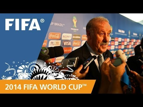 FINAL - Spanish coach Vicente del Bosque speaks about his team's draw for the 2014 FIFA World Cup™. More videos about the 2014 FIFA World Cup™ Final Draw: http://www...