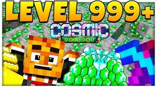 LVL 100+ MAX PICKAXE $100,000,000!!! - Minecraft Prisons COSMIC JAIL BREAK