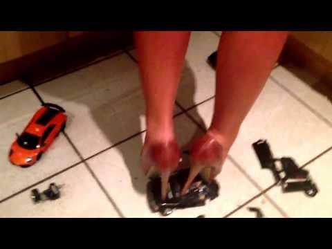 high heels crush - via YouTube Capture.