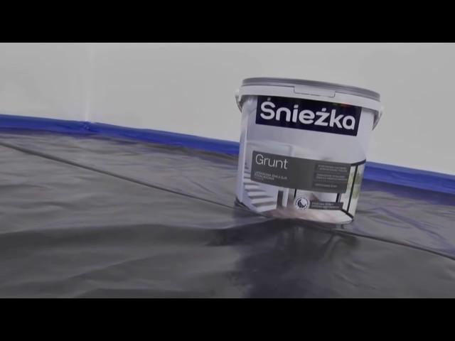 Śnieżka Satynowa   gruntowanie ścian farbą lateksową