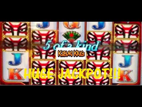 CRAZY HUGE WIN! Max Bet! Kabuki King-Konami Slot Machine Bonus
