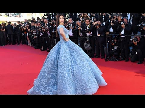 Aishwarya Rai Bachchan In Michael Cinco At The 70th Cannes Film Festival 2017