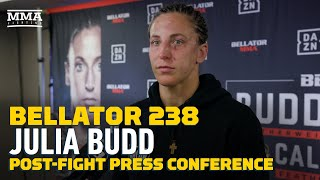 Bellator 238: Julia Budd Talks About 'Mistakes' In Cris Cyborg Fight, 'I'll Be Back' - MMA Fighting by MMA Fighting