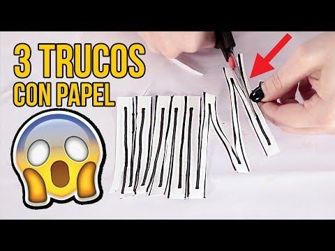Videos caseros - 3 TRUCOS CON PAPEL QUE TE SORPRENDERÁN