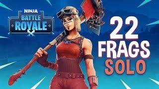 22 Frag Solo Gameplay! - Fortnite Battle Royale Gameplay - Ninja