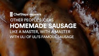 Pro tips and techniques for homemade sausage, with Uli of Seattle's Uli's Famous Sausage. chfstps.co/2s4vHi9You're passionate about cooking. We're here to help.Become a member and be the first to learn about new recipes, special offers, and goings-on around the kitchen: http://chfstps.co/1paXXVdAnd while you're at it...Like us on Facebook: http://chfstps.co/1thBubbFollow us on Instagram: http://chfstps.co/1nDs8Fj Tweet with us: http://chfstps.co/1gMVbWAGet Pin-spired: http://chfstps.co/1koB9kIRead our blog: http://chfstps.co/1rhTgh0