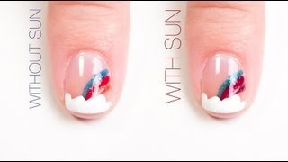 Rainbow Color-Changing Nail Art Design