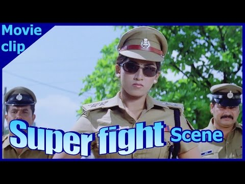 Super Hit Action Scene | Super Fight Scene | Kanchana IPS Fighting Alone With Slum Rowdies